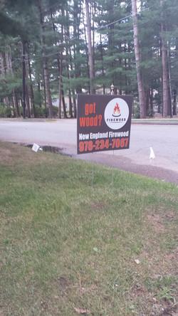 Topsfield Firewood Sign