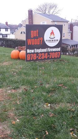 Woburn Firewood Sign