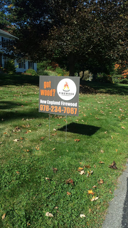 Firewood Sign Andover