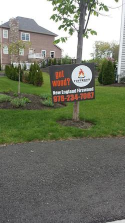 Firewood Sign Saugus