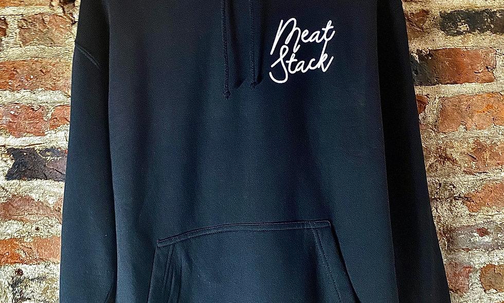 Meat:Stack Black Hoodie