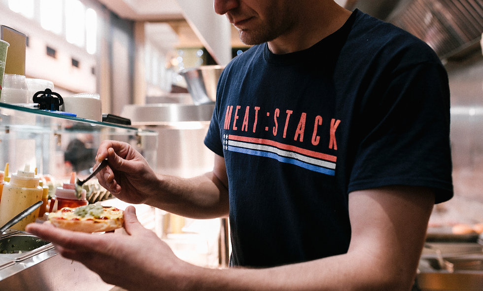 Meat:Stack Navy Tee