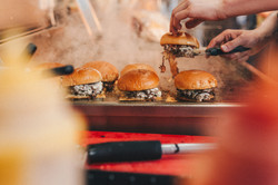 Meat:Stack Burgers on Grill