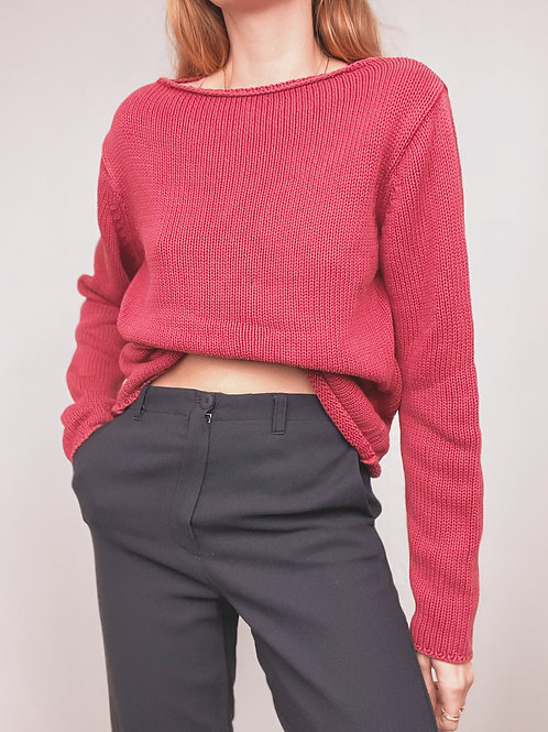PULL ROUGE TRICOT