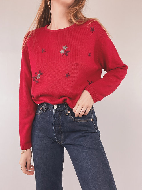PULL LAINE ROUGE