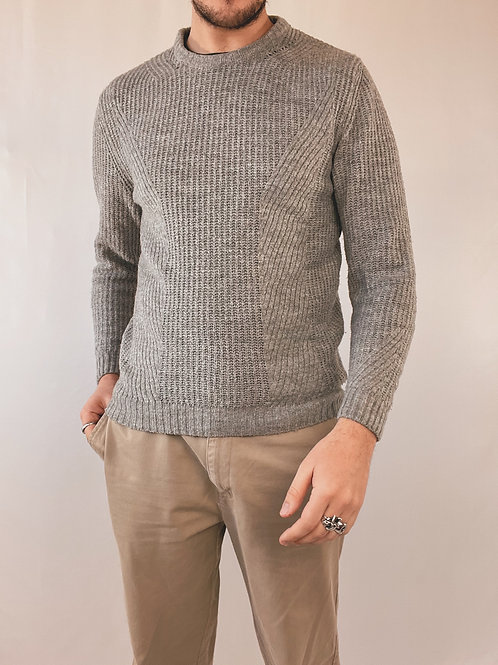 PULL MAILLE GRIS