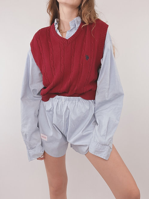 PULL UPCYCLÉ ROUGE