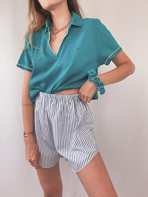 POLO TOMMY HILFIGER UPCYCLÉ TURQUOISE