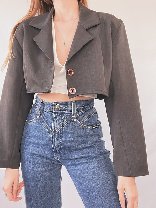 BLAZER UPCYCLÉ CROP