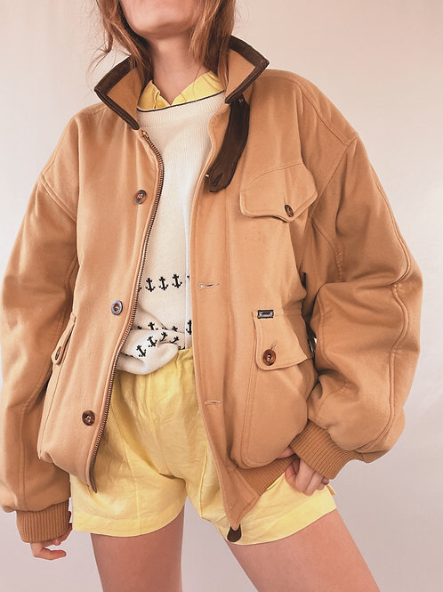 VESTE TEDDY SABLE VINTAGE