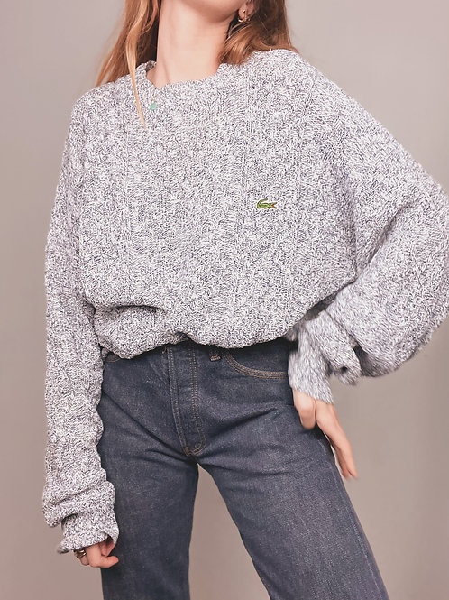 PULL GRIS LACOSTE