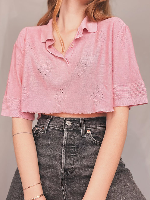 CROP TOP UPCYCLÉ  ROSE