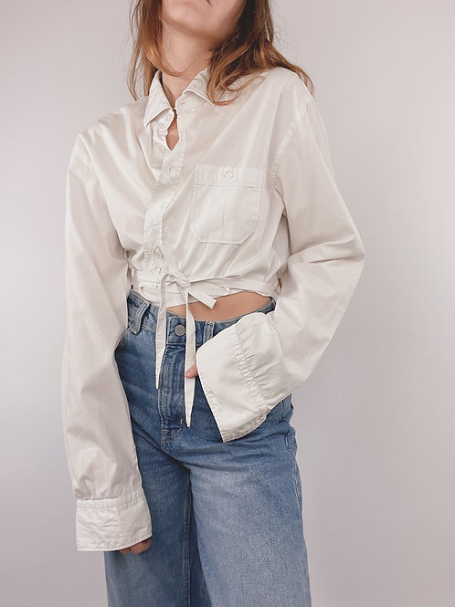 CHEMISE UPCYCLÉE BOSS BLANCHE