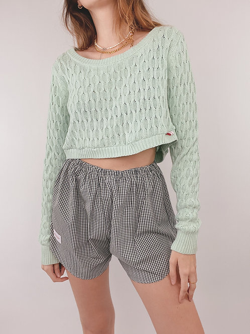 PULL UPCYCLÉ MAILLE CIEL