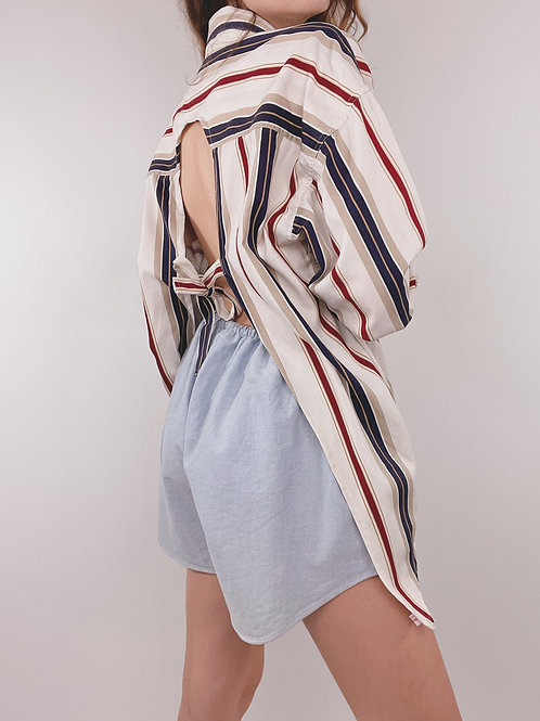 CHEMISE UPCYCLÉE CHAPS DOS NU