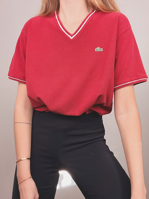 TSHIRT LACOSTE ROUGE