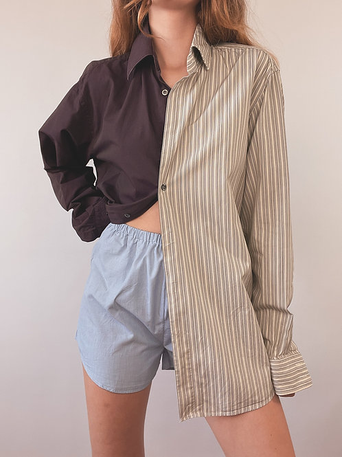 CHEMISE MIX BOSS (POURPRE/RAYURES)