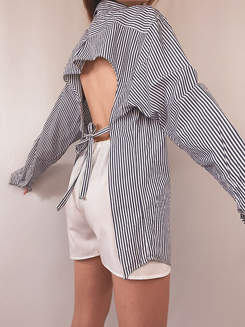 CHEMISE TOMMY HILFIGER UPCYCLÉE DOS NU RAYURES