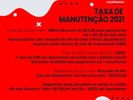 Taxa de Manutenção 2021