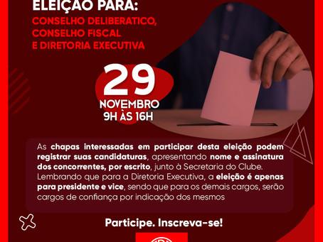 Assembleia Geral Ordinária em 29/11- ELEIÇÃO