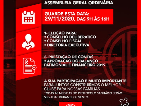 AVISO IMPORTANTE: ASSEMBLEIA GERAL ORDINÁRIA