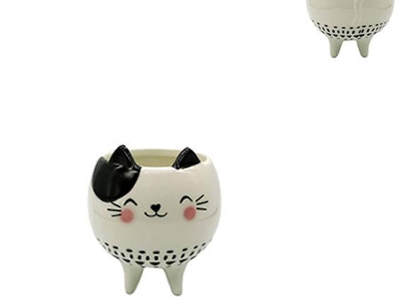 Cachepot Porcelana Gato