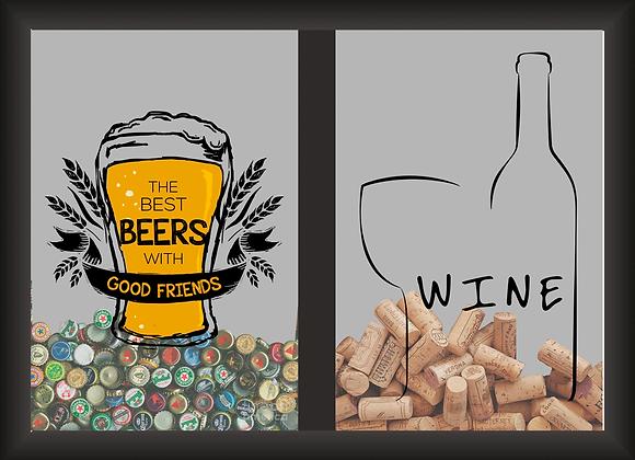 Quadro Duplo - Best Beer + Wine