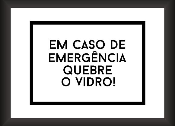 Quadro Cofre - Em Caso de Emergência