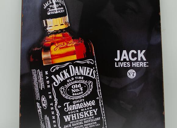 Placa Decor - Jack Daniels   Rosto