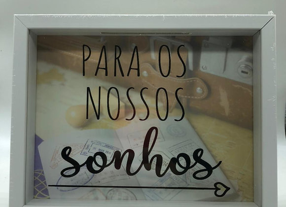 QUADRO COFRE 18X23 SONHOS BR