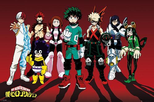 Poster G -My Hero Academy Line Up
