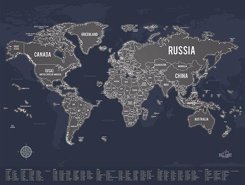 Mapa de Raspar - Escuro