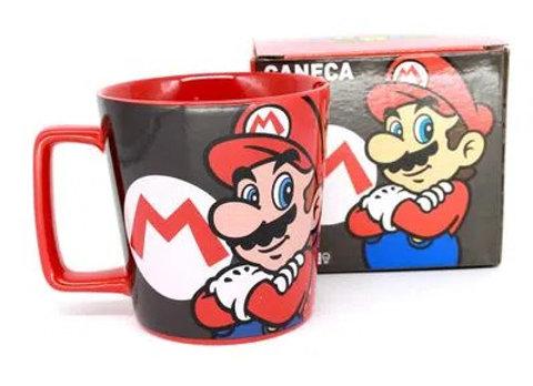 Caneca Cerâmica Super Mario