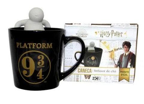Caneca Com Infusor De Chá Hogwarts
