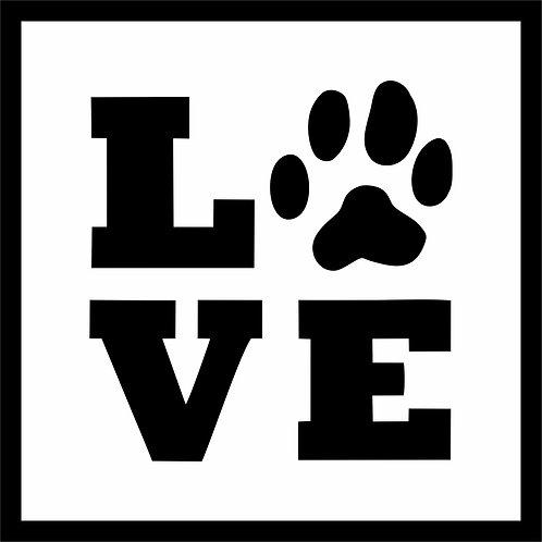 Quadro D - Love Pet