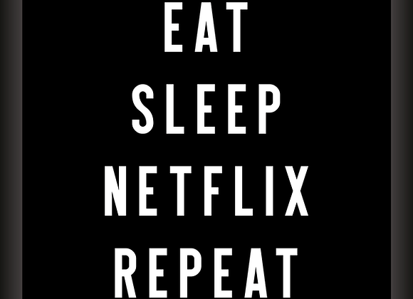 Quadro Decor - Eat, Sleep, Netflix, Repeat