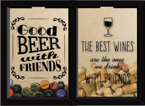 Quadro Duplo - Good Beer + The Best Wine