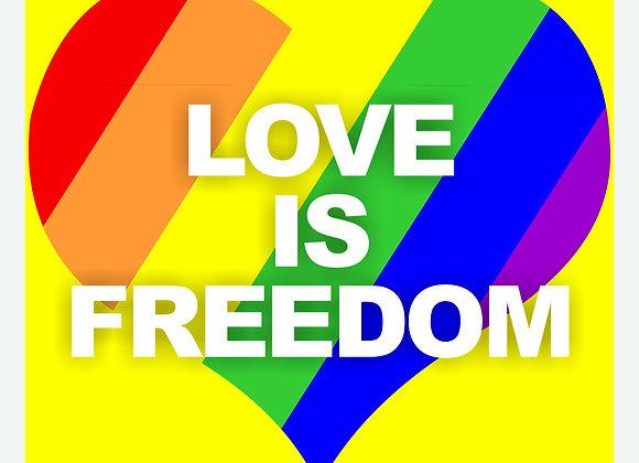 QUADRO LOVE IS FREEDOM BR 28X28
