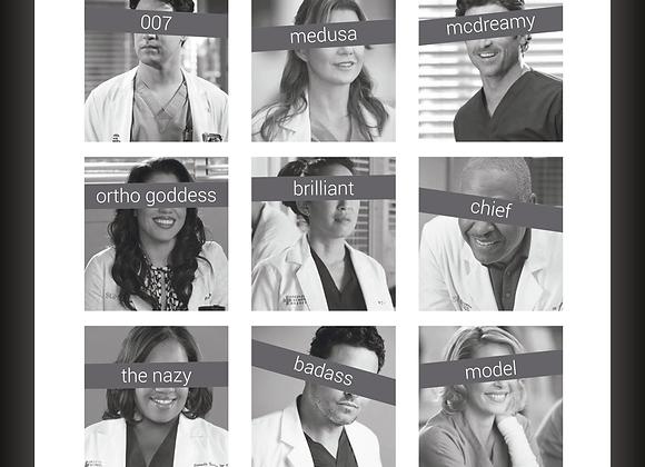 Quadro Decor - Grey's Anatomy | Tarjas