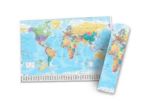 Pôster G - Mapa Bandeiras