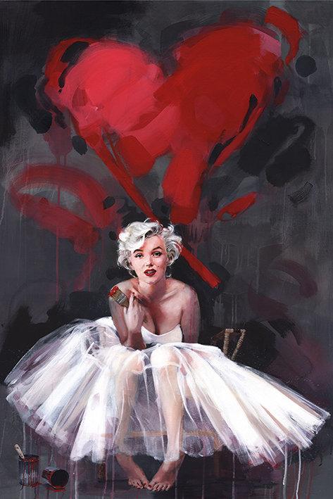 Pôster G - Marilyn Monroe   Pintura
