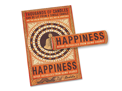 Poster Buddha - Happiness
