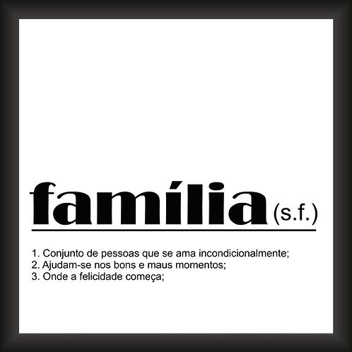 Quadro Decorativo - Família