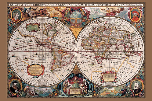 POSTER M PY PP 31836 WORLD MAP HEMISFERIOS