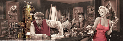 Pôster H - Marilyn, James, Elvis