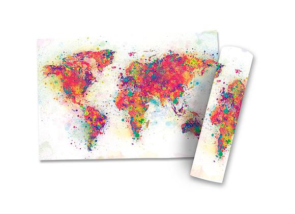 Pôster G - Mapa | Colorido