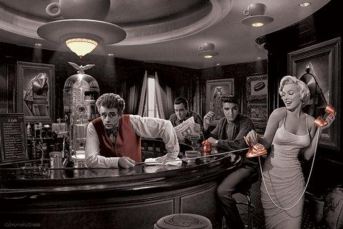 Poster G - Marilyn, James, Elvis e Humprey
