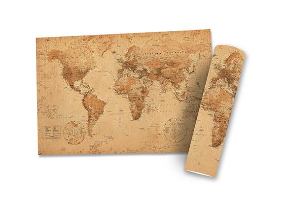 Poster Mapa Vintage