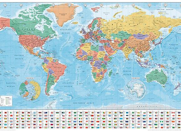 Poster Mapa Mundi