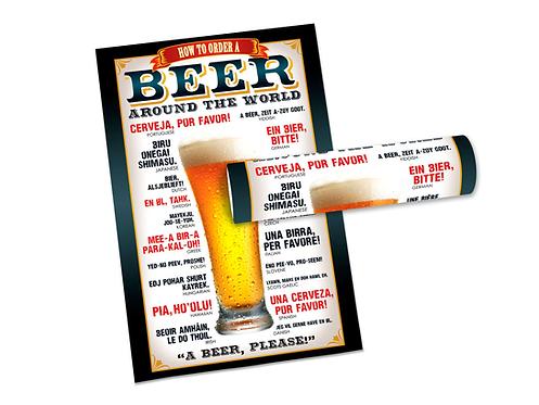 Poster Como Pedir Cerveja